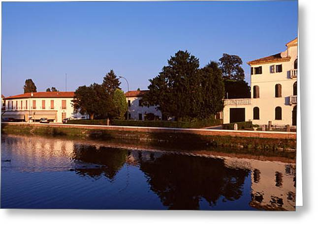 Window Reflection Greeting Cards - Grenta Mira Canal, Venice, Italy Greeting Card by Panoramic Images