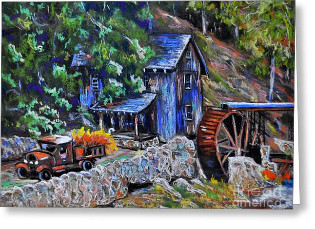 Mills Pastels Greeting Cards - Greshams Mill Greeting Card by Judy Sprague