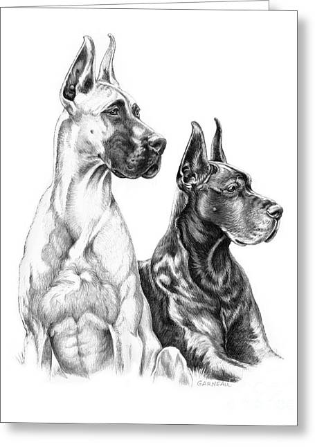 Great Mother Greeting Cards - Greta and Gabby Greeting Card by Catherine Garneau