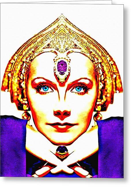 Hari Greeting Cards - Greta Garbo alias in Mata Hari Greeting Card by Art Cinema Gallery