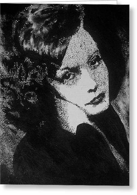 Greta Garbo Greeting Card by Cherise Foster