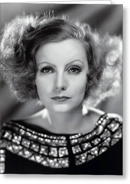 Academy Awards Oscars Greeting Cards - Greta Garbo Greeting Card by Daniel Hagerman