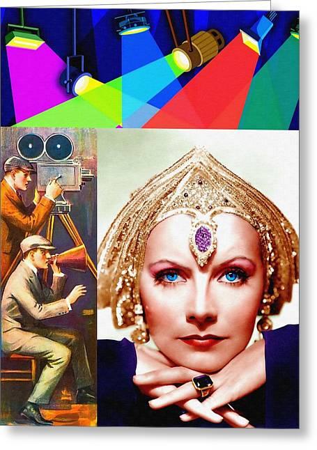 Hari Greeting Cards - Greta Garbo in Mata Hari Greeting Card by Art Cinema Gallery