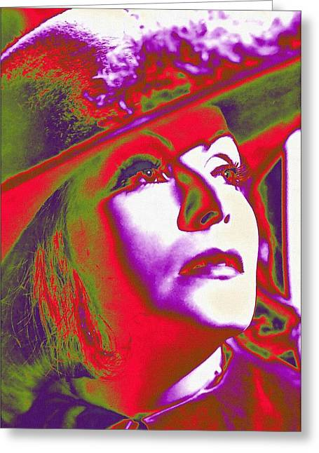 1933 Mixed Media Greeting Cards - Greta Garbo in Queen Christina Greeting Card by Art Cinema Gallery