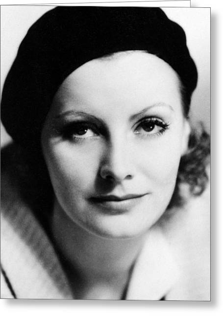 Garbo Greeting Cards - Greta Garbo in The Kiss  Greeting Card by Silver Screen