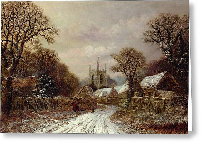 Northamptonshire Greeting Cards - Gretton in Northamptonshire Greeting Card by Charles Leaver
