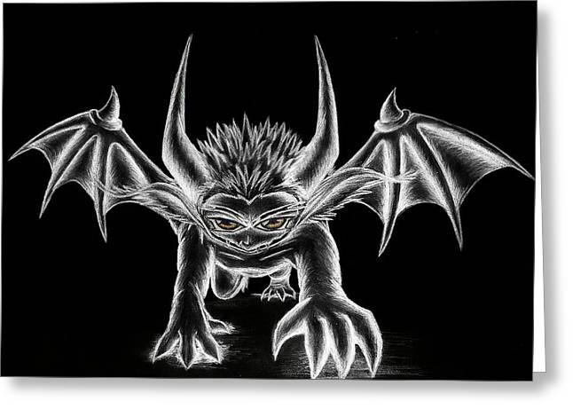 Grevil Chalk Greeting Card by Shawn Dall