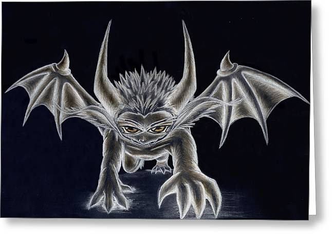 Demon Ears Greeting Cards - Grevil Inverted Greeting Card by Shawn Dall