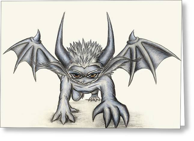 Demon Ears Greeting Cards - Grevil Greeting Card by Shawn Dall