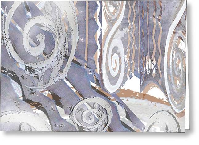 Tala-art Greeting Cards - Grey Abstraction 4 Greeting Card by Eva-Maria Becker