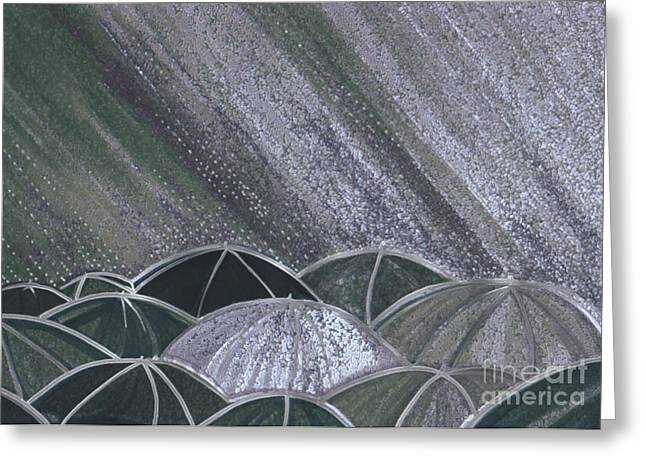 First Star Art Mixed Media Greeting Cards - Grey Rain 2 by jrr Greeting Card by First Star Art
