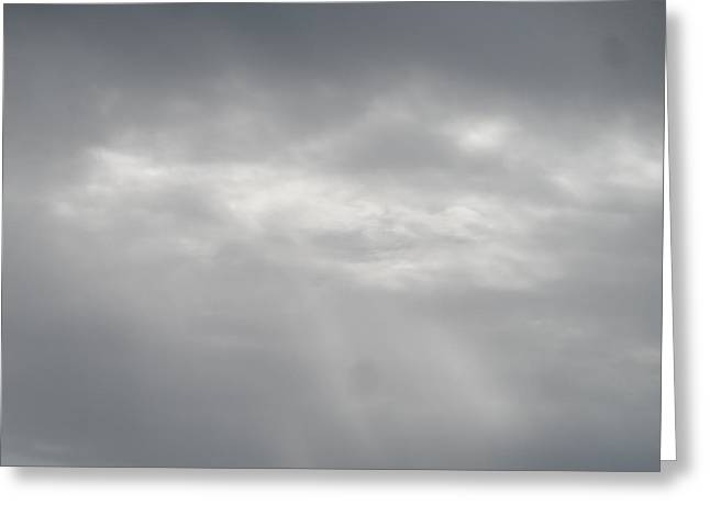 Leaden Sky Greeting Cards - Grey Skies Above Greeting Card by James Potts