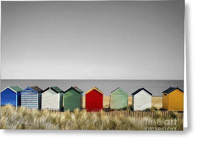 Digitally Created Greeting Cards - Grey Skies Will Be Blue Greeting Card by Edmund Nagele