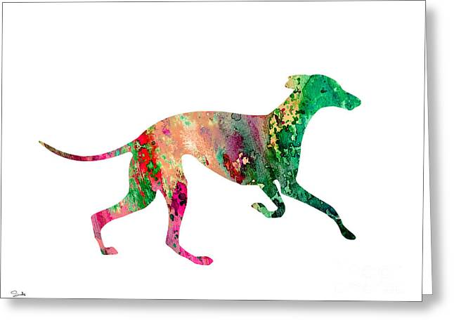 Greyhound Greeting Cards - Greyhound 2 Greeting Card by Luke and Slavi