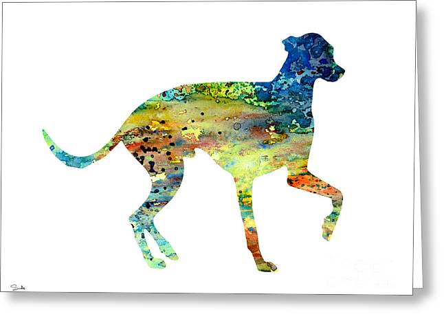Greyhound Dog Greeting Cards - Greyhound 3 Greeting Card by Luke and Slavi