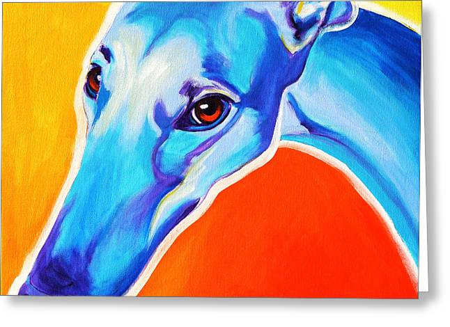 Greyhound - Lizzie Greeting Card by Alicia VanNoy Call