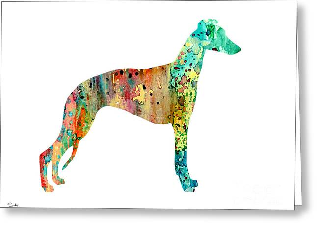 Greyhound Greeting Cards - Greyhound  Greeting Card by Luke and Slavi