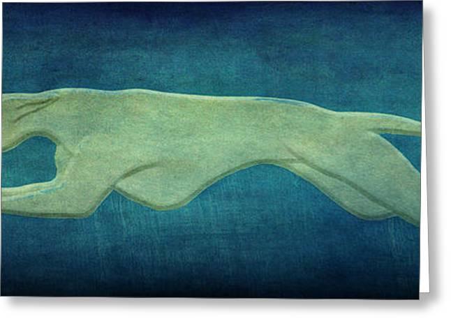 Greyhound Greeting Card by Sandy Keeton