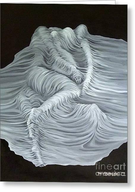 Acrylic Art Greeting Cards - Greyish Revelation Greeting Card by Fei A
