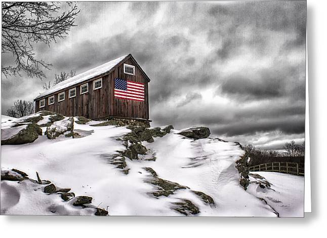 Roxbury Greeting Cards - Greyledge Farm After the Storm Greeting Card by John Vose