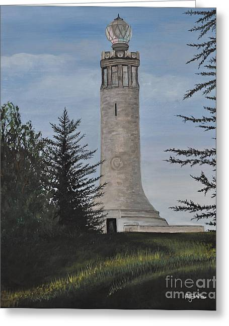 Veterans Memorial Paintings Greeting Cards - Greylock #2 Greeting Card by Sally Rice