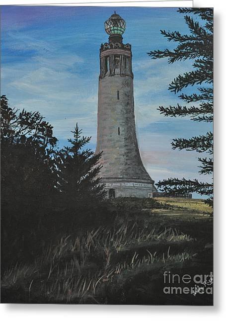 War Memorial Paintings Greeting Cards - Greylock Greeting Card by Sally Rice
