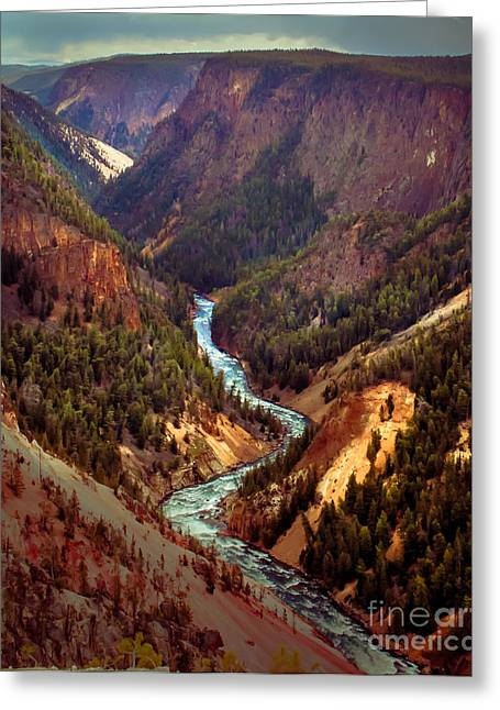 Grand Canyon Of The Yellowstone Greeting Cards - Grand Canyon of the Yellowstone Greeting Card by Robert Bales