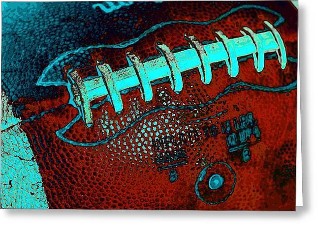 Football Closeup Greeting Cards - Gridiron Tool - The Football Greeting Card by David Patterson