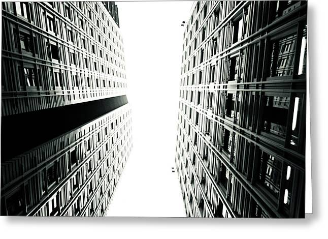 Grids Lines And Glass Structure - Google London Offices Greeting Card by Lenny Carter