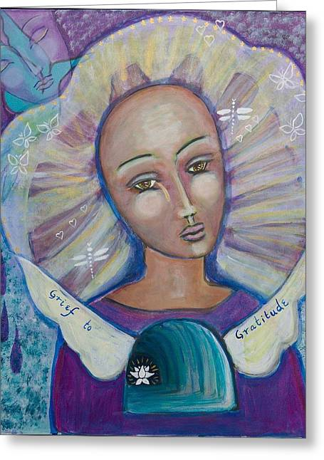Grief To Gratitude Greeting Card by Havi Mandell