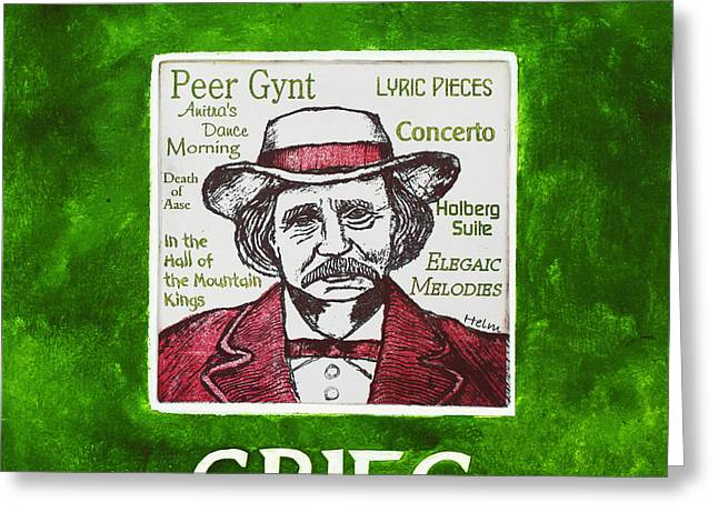 Edvard Greeting Cards - Grieg Greeting Card by Paul Helm