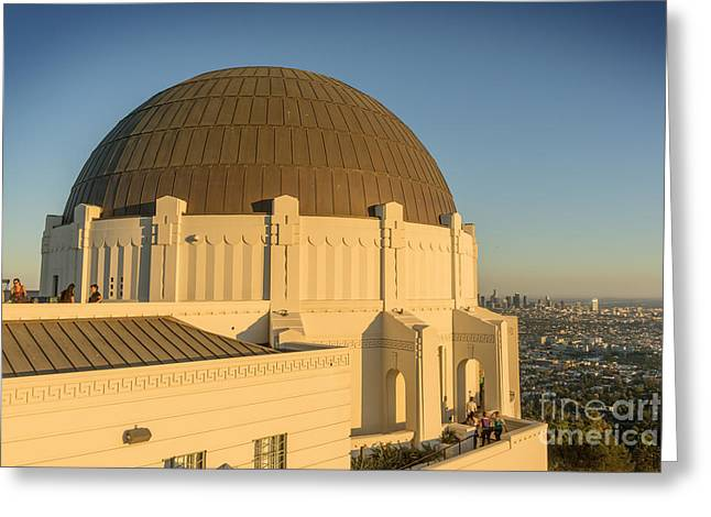 Clear Sky Images Greeting Cards - Griffifth Observatory Dome Greeting Card by Clear Sky Images
