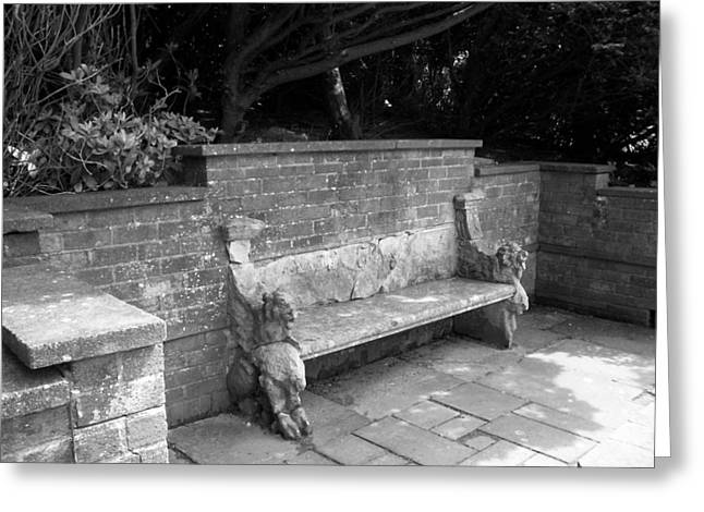 Griffin Bench Greeting Card by Katie Beougher