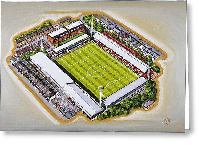 Art Mobile Greeting Cards - Griffin Park - Brentford FC Greeting Card by D J Rogers