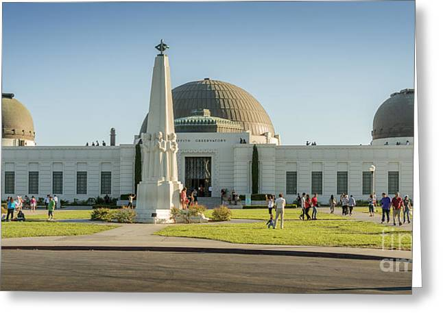 Clear Sky Images Greeting Cards - Griffith Observatory Greeting Card by Clear Sky Images