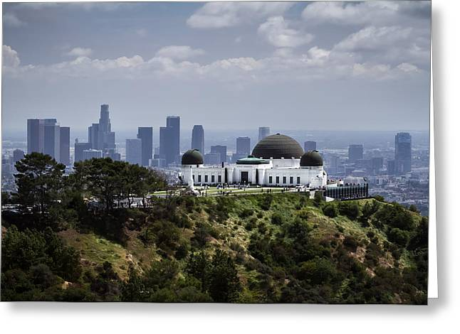 Office Space Digital Greeting Cards - Griffith Observatory Greeting Card by Eduard Moldoveanu