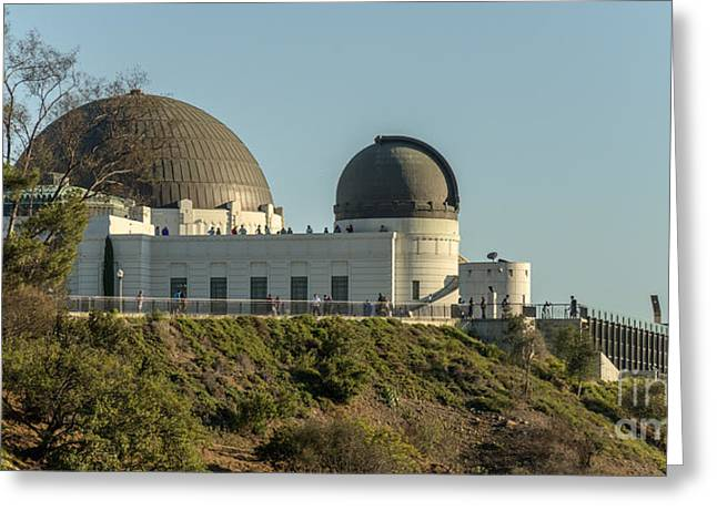 Clear Sky Images Greeting Cards - Griffith Observatory Profile Greeting Card by Clear Sky Images