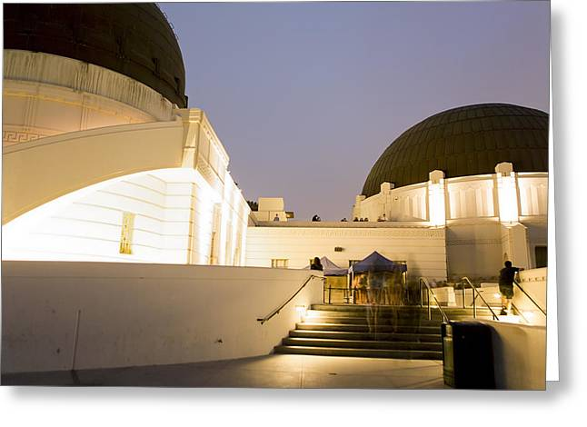 Office Space Greeting Cards - Griffith Park Observatory No. 3 Greeting Card by Belinda Greb