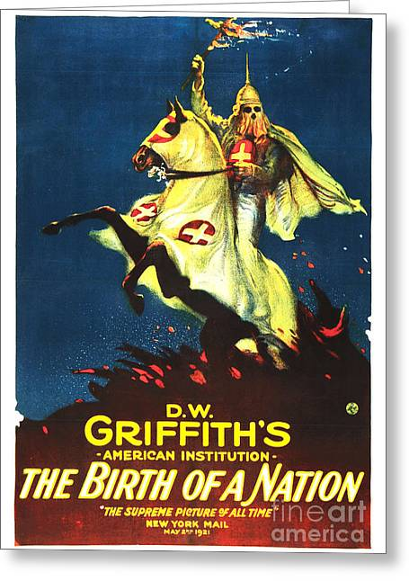 Race Relations Greeting Cards - Griffiths Birth of a Nation Greeting Card by The Realm  Endless