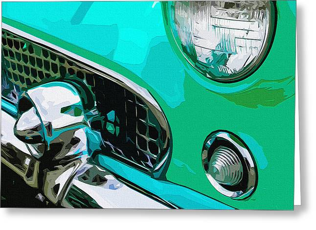 Grille Chill Greeting Card by Brian Stevens