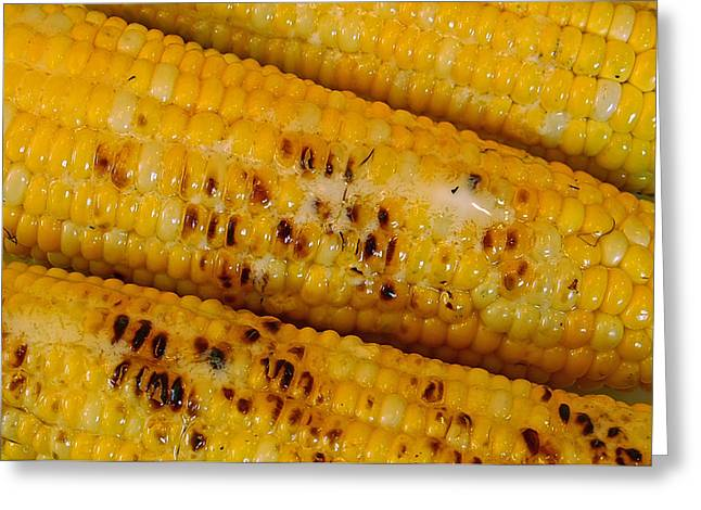 Corn On The Cob Greeting Cards - Grilled Corn Greeting Card by Michael Peychich