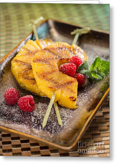 Owner Greeting Cards - Grilled Pineapple Dessert Greeting Card by Iris Richardson