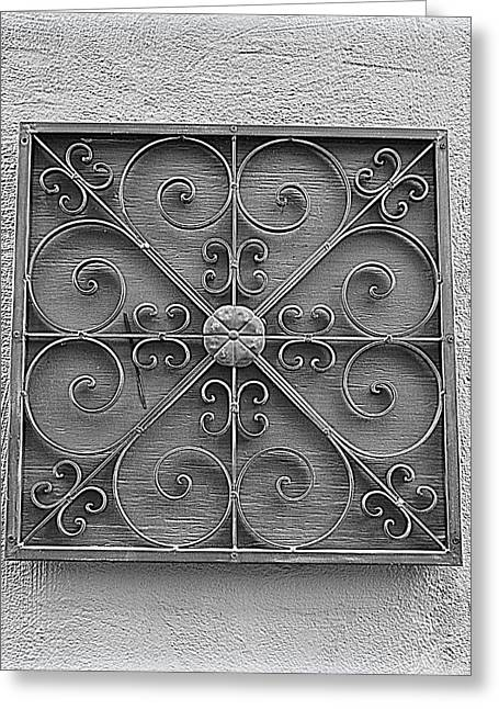 Grillwork Greeting Cards - Grillwork in Charleston Greeting Card by Linda Covino