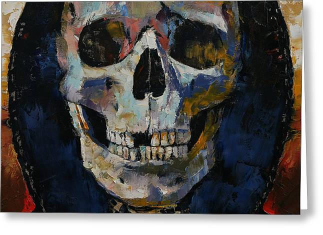 Grim Reaper Greeting Card by Michael Creese