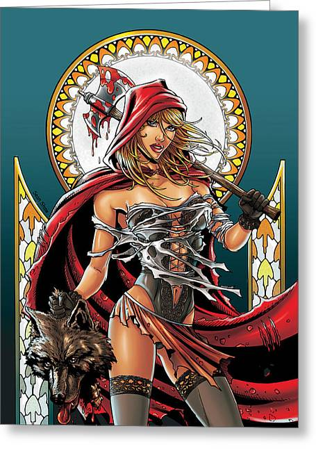 Bad Drawing Mixed Media Greeting Cards - Grimm Fairy Tales 01 Greeting Card by Zenescope Entertainment
