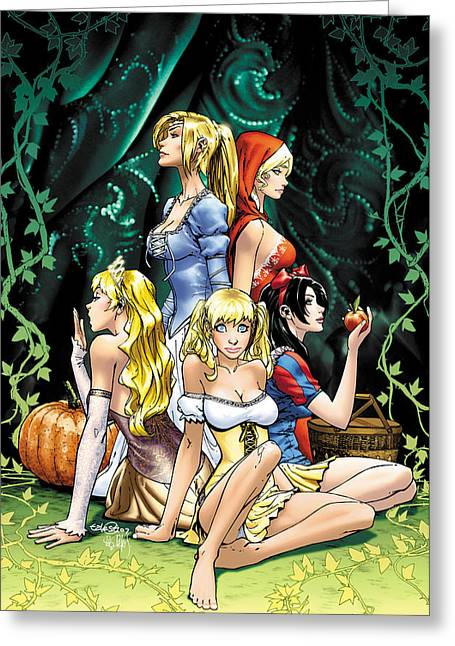 Grimms Fairy Tales Greeting Cards - Grimm Fairy Tales 2010 Annual Greeting Card by Zenescope Entertainment