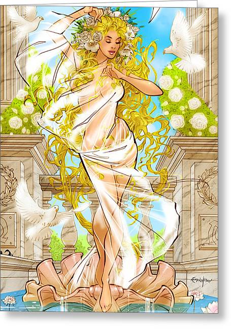 Dorothy Pond Greeting Cards - Grimm Fairy Tales Godstorm 02D Greeting Card by Zenescope Entertainment