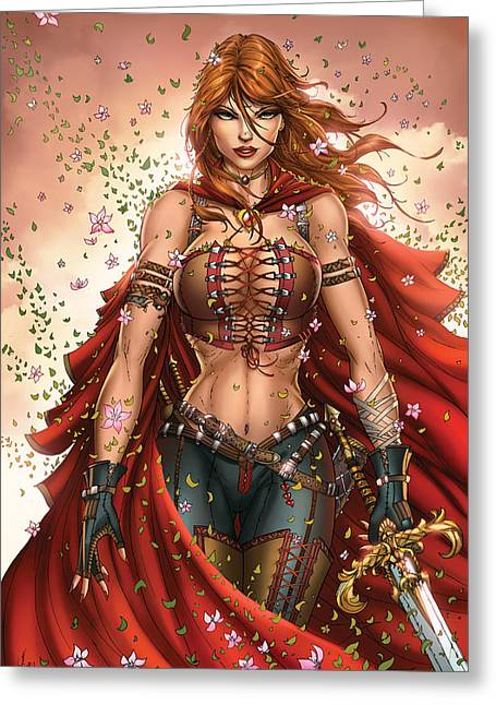 Book Greeting Cards - Grimm Fairy Tales Unleashed 04C Belinda Greeting Card by Zenescope Entertainment