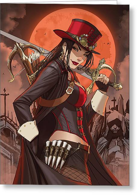 Sela Mathers Greeting Cards - Grimm Fairy Tales Unleashed Vampires 02A Greeting Card by Zenescope Entertainment