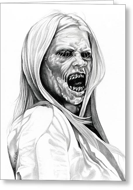Horror Tale Greeting Cards - GRIMM Hexenbiest Greeting Card by Fred Larucci